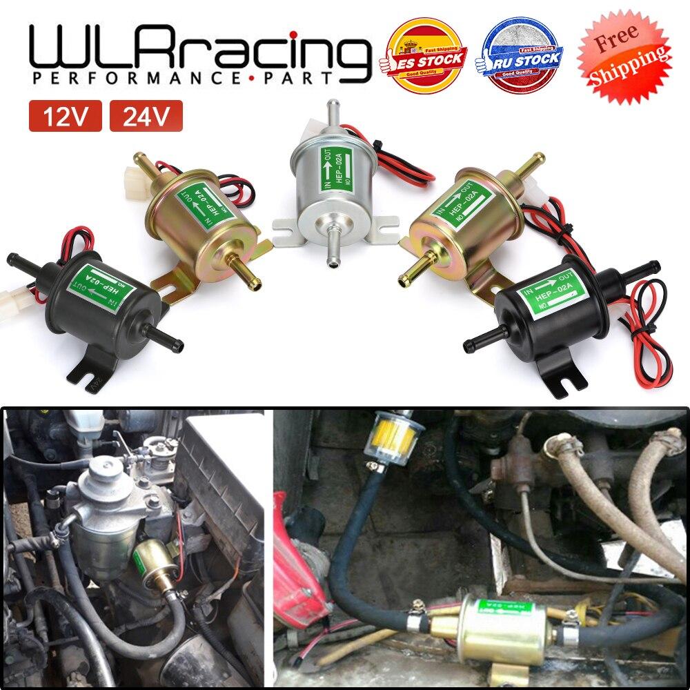 Электрический топливный насос 12 В 24 В, болт низкого давления, фиксирующий провод, дизельный бензиновый HEP-02A для автомобиля, карбюратора, мот...