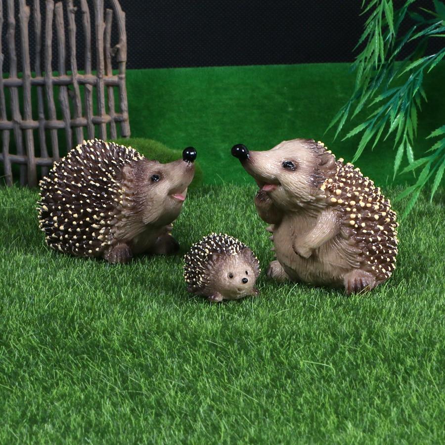 Реалистичные Модели ежей, фигурки животных, фигурки диких животных, Лесной зоопарк, модели для детей, обучающие игрушки