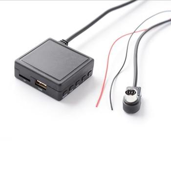 цена на Car Bluetooth AUX Music Adapter Wireless Audio Cable Microphone Adapter For Alpine Ai-NET JVC KS-U58 PD100 U57