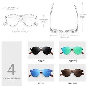 Image 2 - Luxe Walnoot Bubinga Houten heren Zonnebril Vrouwen Retro Randloze Green Mirror Lens Zonnebril Handgemaakte Rijden Eyewear