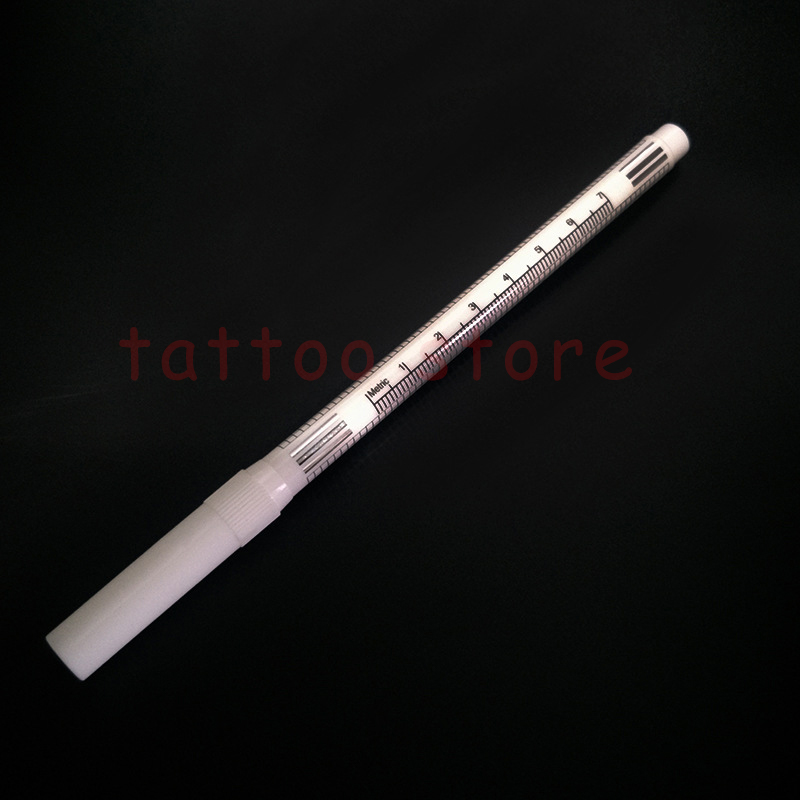 Image 4 - 10sets White Surgical Eyebrow Tattoo Skin Marker Pen Tools Microblading Accessories Tattoo Marker Pen Permanent Makeup Supplier-in Tattoo accesories from Beauty & Health