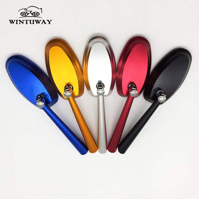 WINTUWAY 5 Colors Available Modification of Universal Motorcycle Rearview Mirror CNC All Aluminum Side Mirrors
