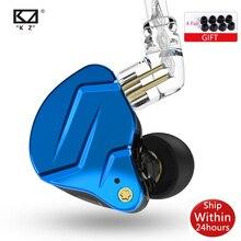 سماعات أذن معدنية KZ ZSN Pro X 1DD 1BA HIFI داخل الأذن سماعات أذن مزودة بجهير للسائق سماعات رياضية منخفضة للغاية صوت لـ ZSX ZAX ASX EDX Z1