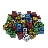 10 unids/pack acrílico D6 patrón tallado dados 6-lados accesorios poliedro de DND Dice Digital juego de dados