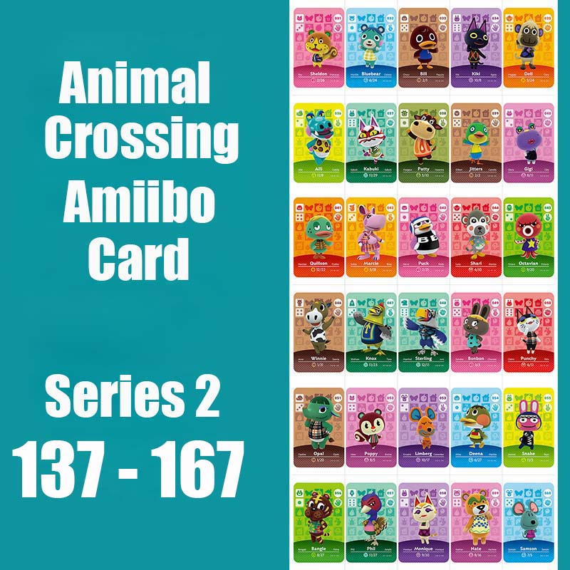 Series 2 (137 To 167) Animal Crossing Card Amiibo Locks Nfc Card Work For NS Games Series 2 (137 To 167)