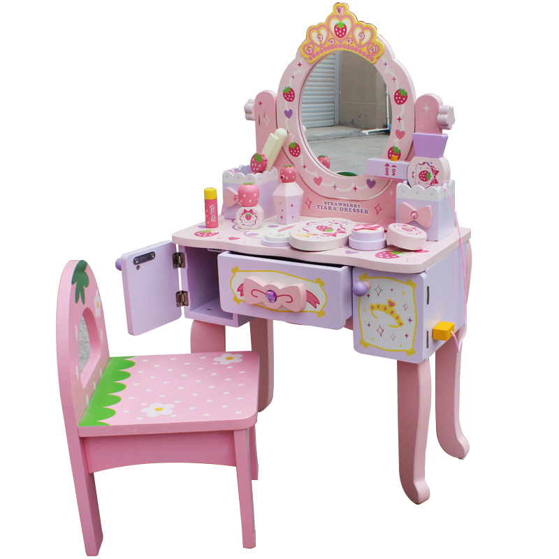 Girls Over Home Children's Dresser Toy Set Simulation Baby Makeup Toy Makeup Box Birthday Gift