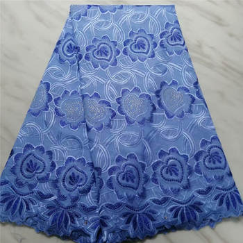 Pure Cotton Design Swiss Voile Lace In Switzerland With Stones African Dry Lace Fabric High Quality Nigerian For Wedding!PL40310
