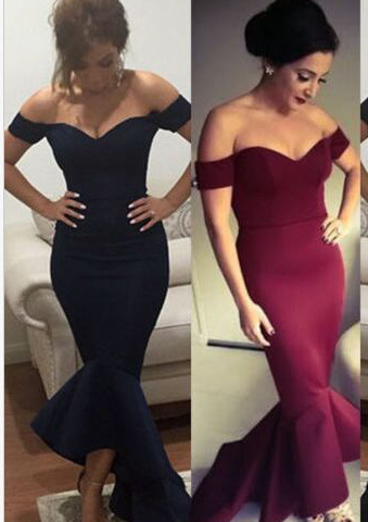 AliExpress Europe And America Fishtail Backless Waist Hugging Solid Color Formal Dress Long Skirts