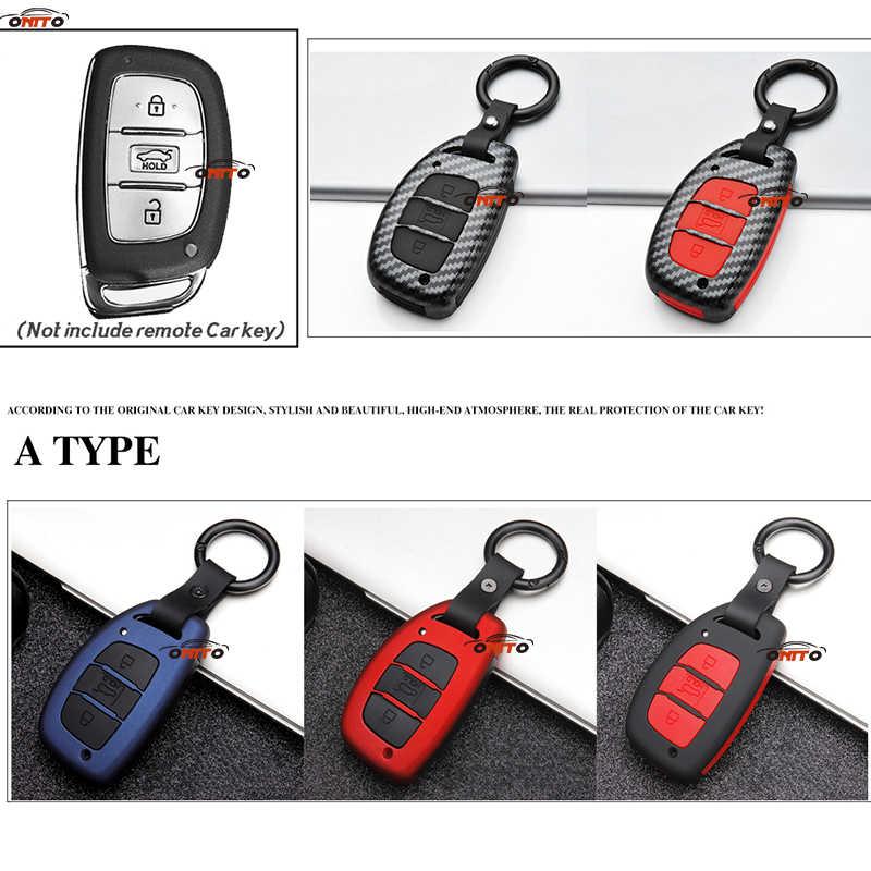 Карбоновый + силиконовый ABS автомобильный чехол для ключей аксессуар для ключей сумка 3 кнопки Подходит для hyundai Creta I10 I20 Tucson Elantra Santa IX30