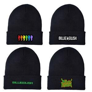 Beanie Hat Sport-Cap Skullies Knitted Hip-Hop Warm Cuffed Women Casual Embroidery