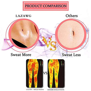Image 3 - LAZAWG Women Hot Neoprene Pants Suana Sweat Short Pant Hot Sweat Pants Body Shaper Slim Butt Lifter Tights Tummy Control Panties