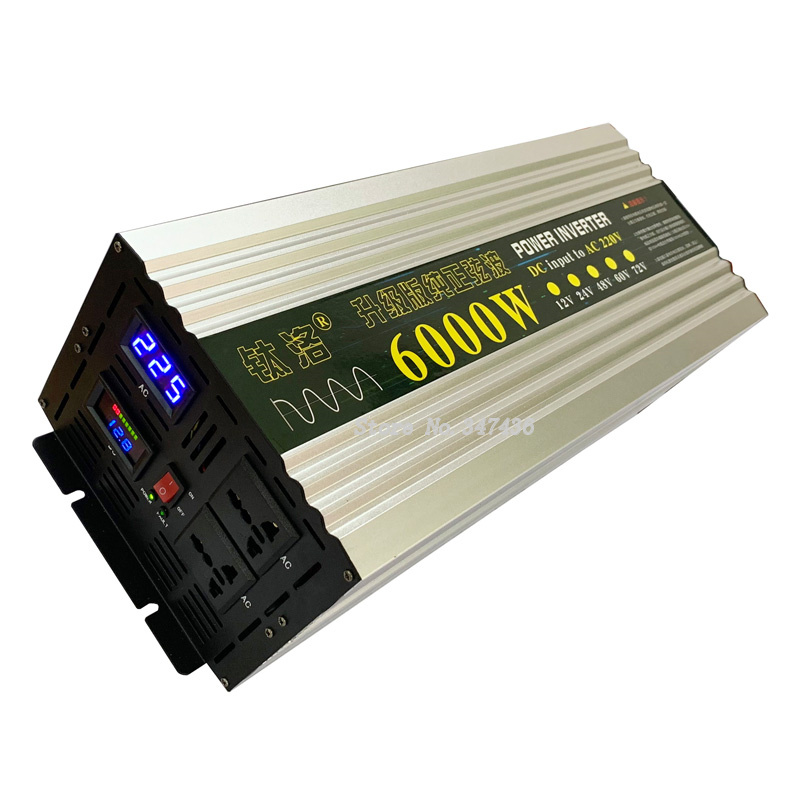 50HZ Reine sinus welle <font><b>inverter</b></font> <font><b>6000W</b></font> high power auto hause industrie <font><b>12V</b></font> 24V 48V 60V drehen <font><b>220V</b></font> boost image