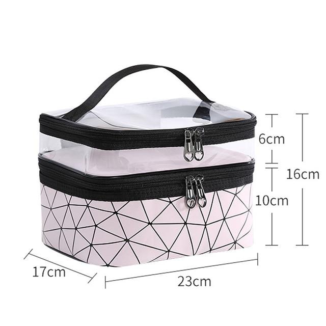 Multifunction Travel Clear Makeup Bag Fashion Diamond Cosmetic Bag Toiletries Organizer Waterproof Females Storage Make Up Cases 2