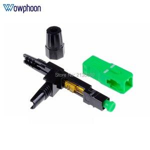 Image 5 - Kostenloser Versand SC APC Schnelle Stecker Embedded Stecker FTTH Werkzeug Kalten Faser Schnelle Stecker SC Fiber Optic Connector