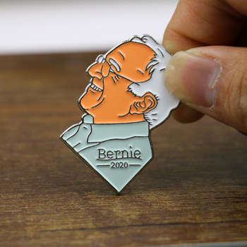 Bernie Enamel Pin For Pressident 2020 Lapel Pin Clothe Badge Pin Button Cartoon Brooch For Women Men image