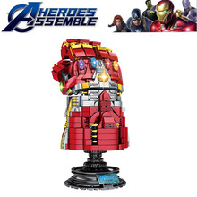 Super Heroes Avengers4 The Infinite Gloves Of Thanos Sets Building Block Kid Toys Edcation Model Baby B811