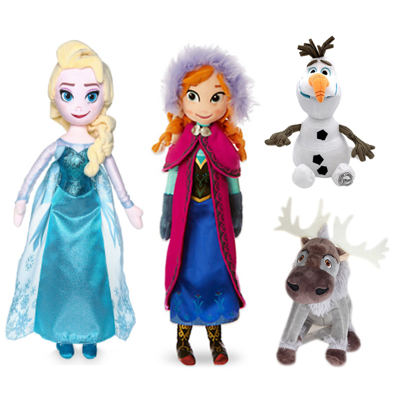 50 CM Disney Frozen 2 Anna Elsa Dolls Snow Queen Princess Toys Stuffed Sven And Olaf Plush Kids Birthday Christmas Gift