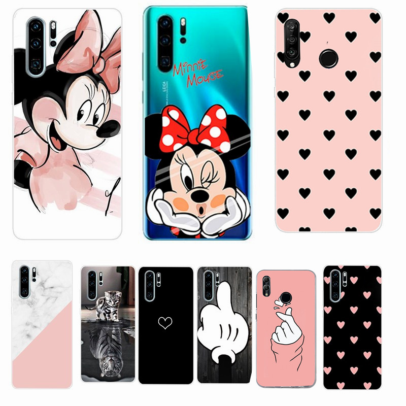 Case For Huawei P30 Pro Case Huawei P30 lite Case Silicon TPU Soft For funda Coque Huawei P20 Pro P40 Lite E Honor 8X 10 Lite(China)