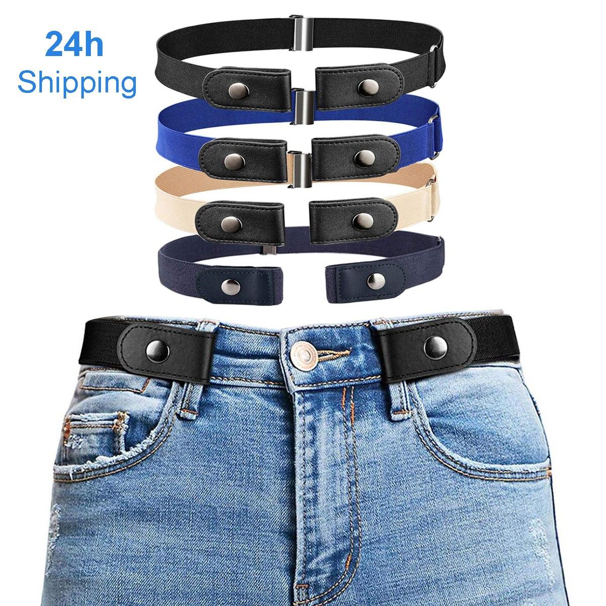 Cintos para mulher fivela-livre cintura calças de brim sem fivela estiramento elástico cinto para homem invisível cinto dropshipping
