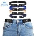 Ремни для wo Для мужчин с застежкой и пряжкой Бесплатная талии джинсовые штаны без пряжки стрейч с эластичной резинкой на талии, пояс для Для ...