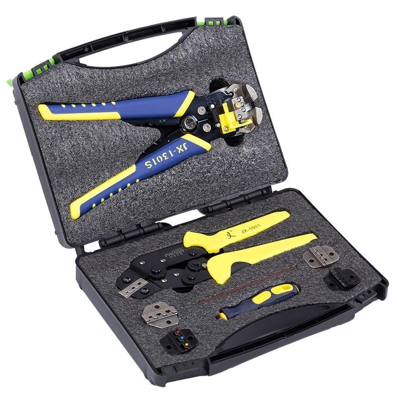 Kit de descascador de fios, descascador de fios para engenharia multifuncional, alicate de friso terminal, conjunto de ferramentas manuais