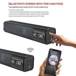 Image 2 - 20W Wireless Bluetooth Soundbar Stereo Speakers Hifi Home Theater TV Sound Bar Surround Sound System Bluetooth Speaker