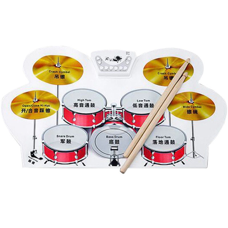 Portable Electronic Roll Up Drum Pad Kit Silicon USB Silicone Electronic Drums,Electronic Drums, Analog Drums Foldable