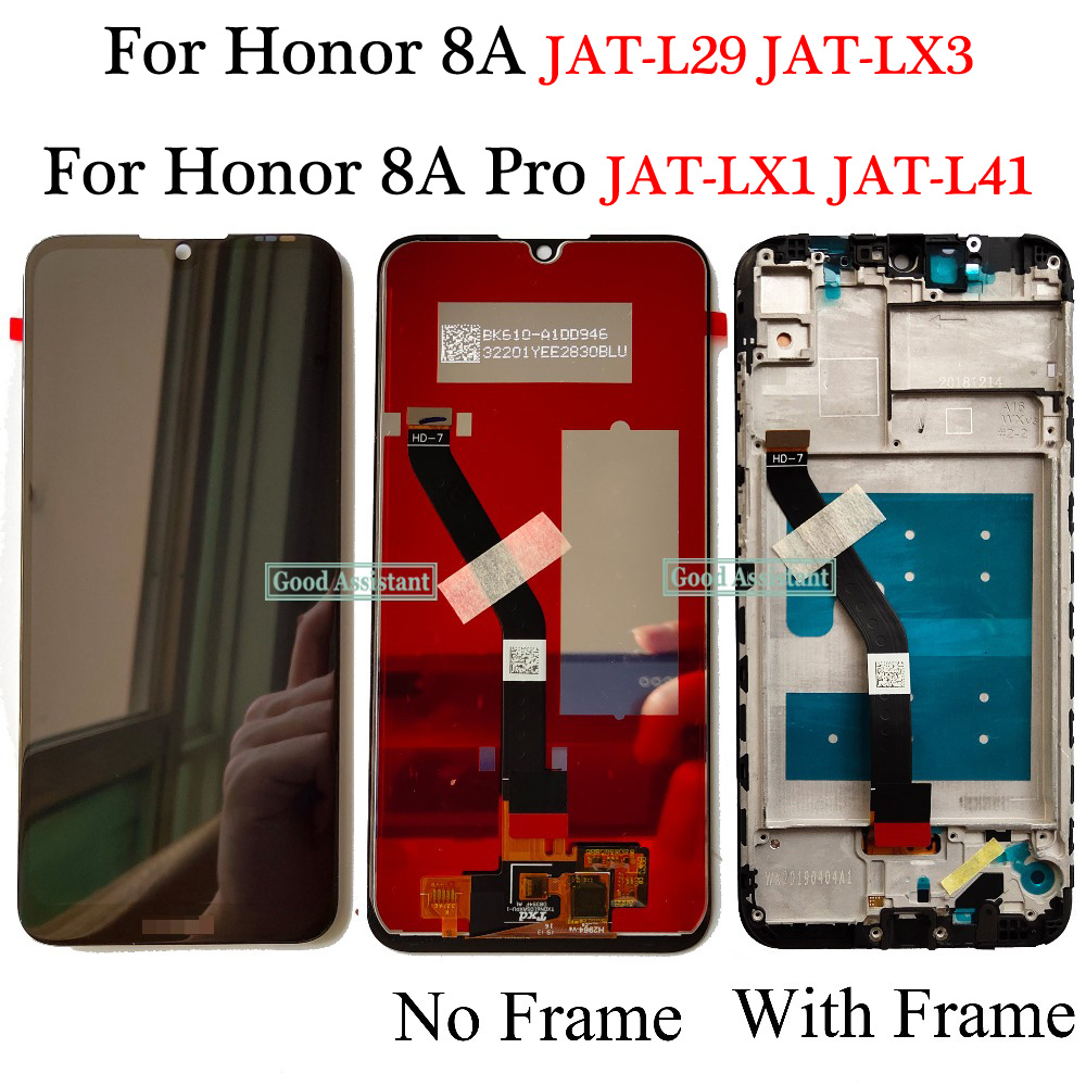 Black XIAOMIN LCD Screen and Digitizer Full Assembly for Huawei Honor 8A Pro Replacement Color : Black, Size : One Size
