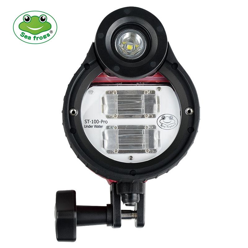Seafrogs ST-100 PRO 100M Underwater Diving Flash Strobe,for Sony A7 II A7 III Canon Nikon Panasonic Fujifilm Waterproof Housing