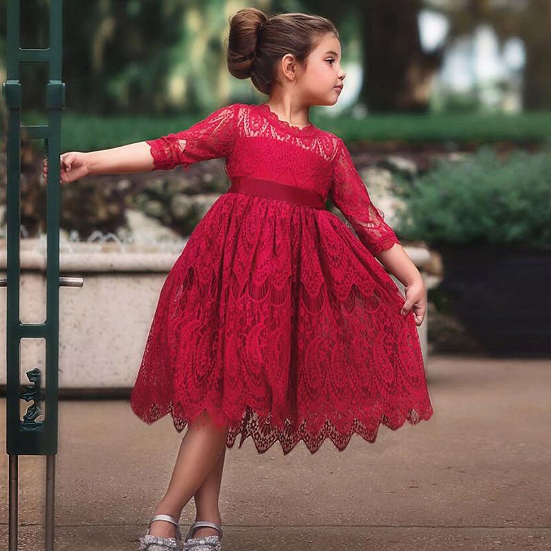 Dress For Girls Baby Girl Clothes Sukienka Dziewczynka Ropa Vestidos Lace Dresses Costume Kids Robe Enfant Fille Frocks Spring