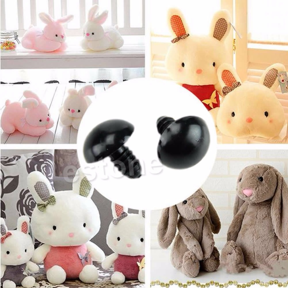 20pcs 6-20mm Black Plastic Safety Eyes For Teddy Bear/Dolls/Toy Animal/Felting