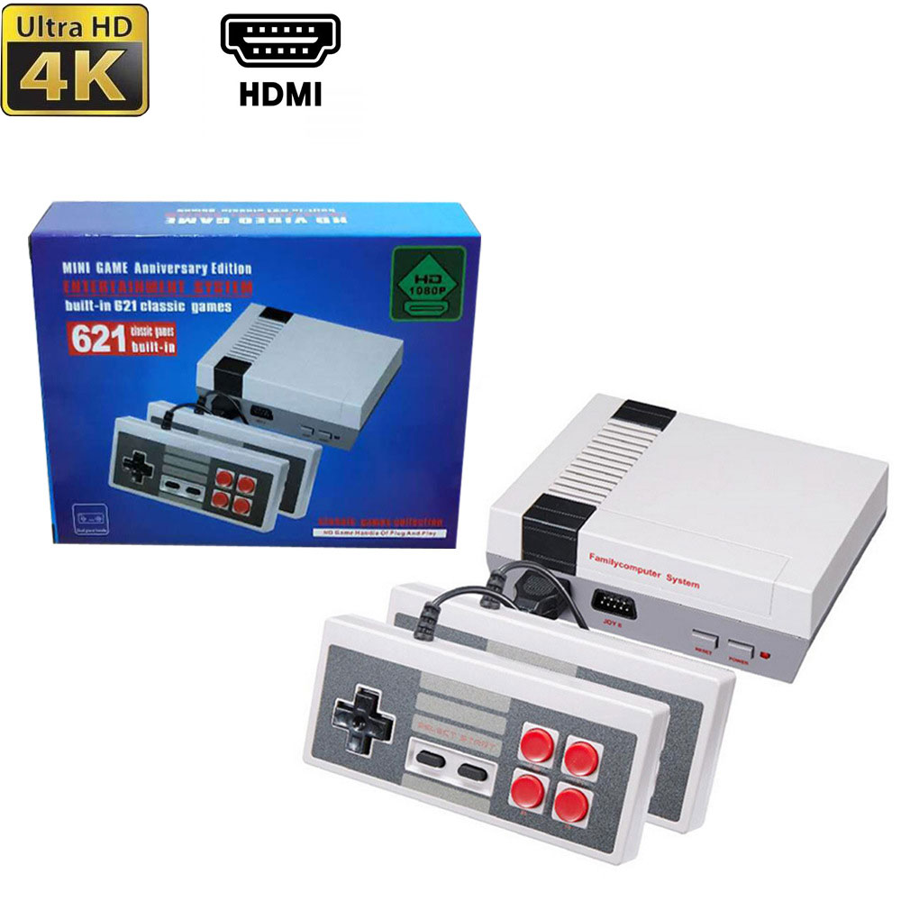 HDMI Output Mini TV Game Console 8 Bit Retro Video Game Wired Console Controller Built-In 621 Games Handheld Gaming Player Gift