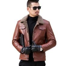 Mountainskin Military Bomber Leather Jackets Men Coats High Quality PU Outerwear Men Winter Faux Fur Male Jacket Motorcycle Bike