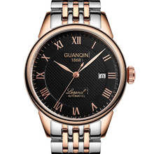 GUANQIN 2020 business watGUANQIN Relogio Masculino Automatic Mechanical Men Watches Waterproof Calendar Moon Leather Wristwatch