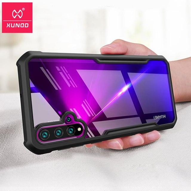 עבור Huawei נובה 5 טלפון מעטפת XUNDD כרית אוויר עמיד הלם 360 מגן שקוף חזרה כיסוי עבור Huawei נובה 5 פרו 5T Funda чехол