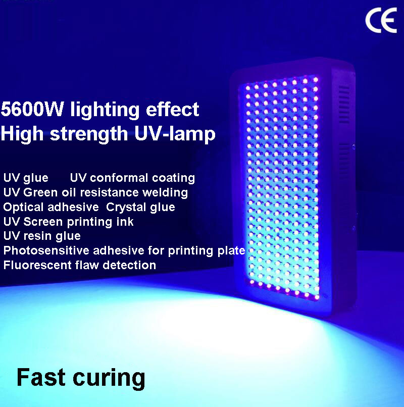 Air-cooled LED high-power UV lamp, light solid lamp, UV curable lamp, no shadow adhesive ink, green oil and varnish drying