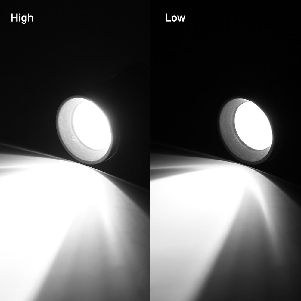 LED flashlight 3 modes mini flashlight USB charging lighting highlight handheld waterproof can focus flashlight