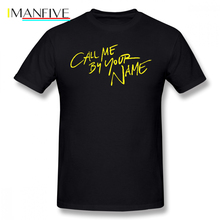 Call Me By Your Name T Shirt Call Me By Your Name T-Shirt Print 100 Cotton Tee Shirt Man Summer Short-Sleeve Awesome Tshirt все цены