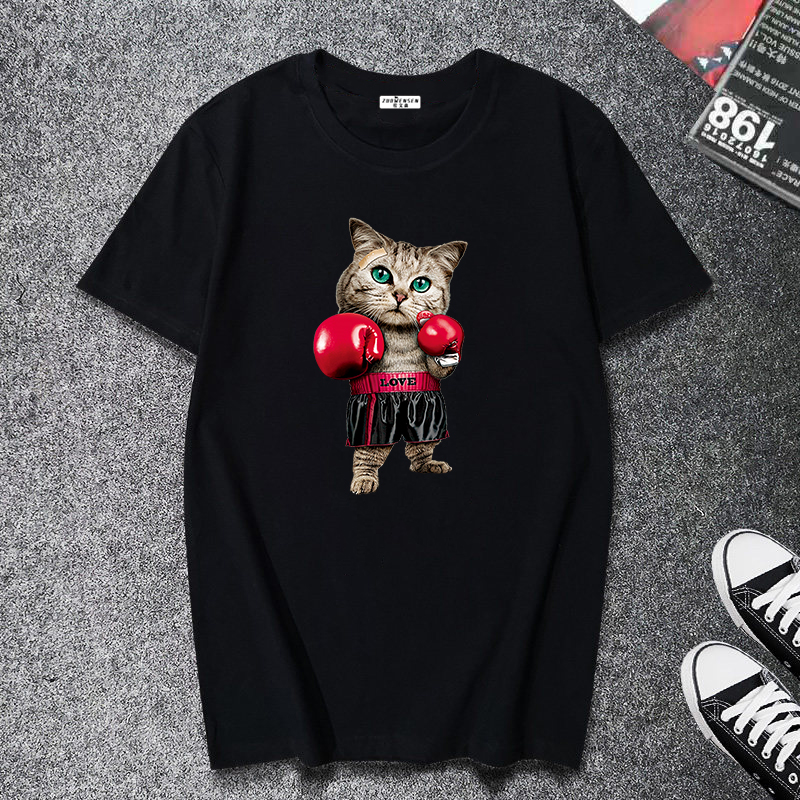 Special price Promotion summer Short sleeve man T shirt funny element print Brief balck clothes 2019 All-match white streetwear image