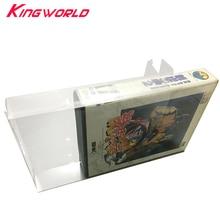 شفاف لعبة جمع تخزين صندوق شفاف ل SNK الرئيسية لعبة وحدة التحكم ل NEO GEO aes البلاستيك حافظة الحيوانات الأليفة حامي
