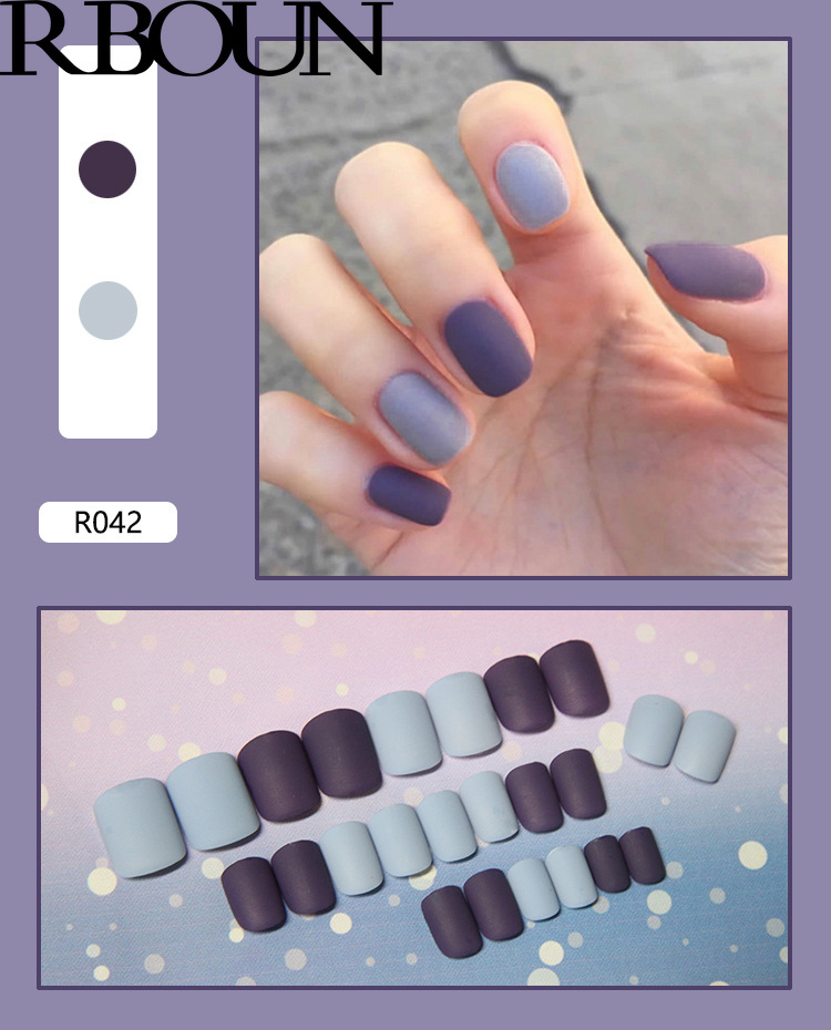 Fake Nails Art Nail Tips Press on False with Designs Set Full Cover Artificial Short Packaging Kiss Display Clear Tipsy Stick 4