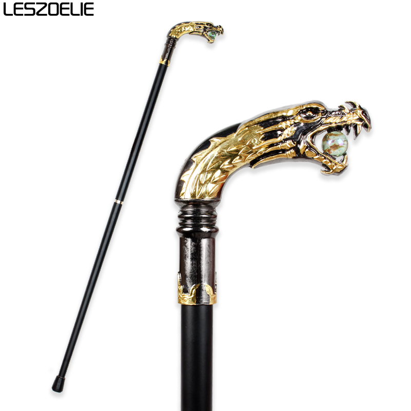 Dragon-Head Luxury Decorative Walking Canes For Men Party Fashion Walking Stick Elegant Hand Canes Gentleman Antique Stick Canes