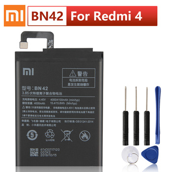 цена на Original XIAOMI BN42 Phone Battery For Xiaomi Redmi 4 Hongmi4 Redrice Standard Edition Authentic Phone Batteries 4000mAh