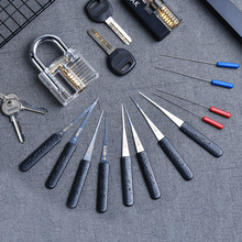 Padlock-Lock Extractor-Set Wrench-Tool Pick Cutaway Locksmith Transparent Visible Practice