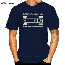 T-Shirt - T3 Bus Syncro Diff. Schloss Sperre Anzeige mit Schriftzug und Spruch Mode Stil Männer T, 100% Baumwolle Klassische t