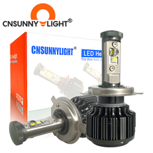 CNSUNNYLIGHT H4 مرحبا/لو H7 H11 9005 9006 Led سيارة المصابيح الأمامية 8000lm 3000K 4300K 6000K عالية السطوع أضواء السيارات تحويل عدة