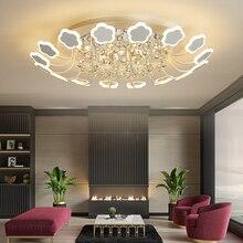 купить White/Black crystal chandeliers ceiling lustre moderno For Living room Bedroom lustre cristal led chandelier lighting Fixtures дешево