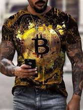 Bitcoin shirts Men Summer Fashion Bitcoin T-shirt Oversized Hip Hop Short Sleeve Casual funny Mens Streetwear Top Tees