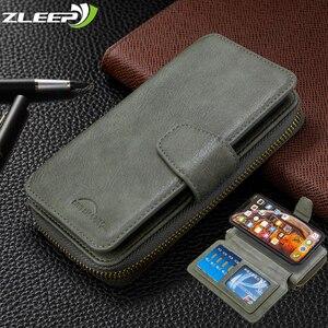 Image 1 - Flip Wallet Case Voor Xiaomi 9T CC9 Note10 Redmi 7 8 7A 8A K20 Note 9 8T 9S 8 7 Pro Lederen Etui Card Slots Magnetische Telefoon Cover