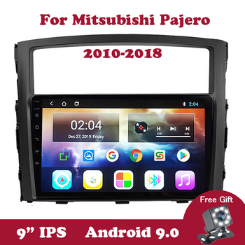 Android 9 Car Radio DVD Player For Mitsubishi PAJERO V97/V93 2009-2014 2015 2016 Stereo Radio GPS Navigation DVD With Canbus 7inch car dvd for chery qq 2014 car dvd gps player car stereo navigation radio audio bluetooth